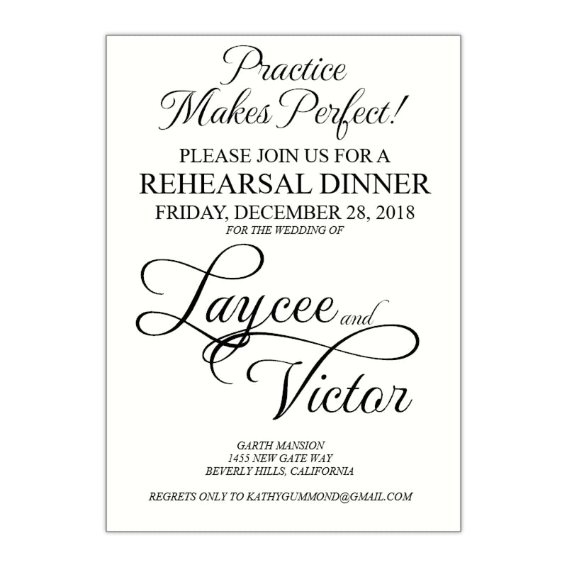 Modern Rehearsal Dinner Invitation, Laycee - All That Glitters Invitations
