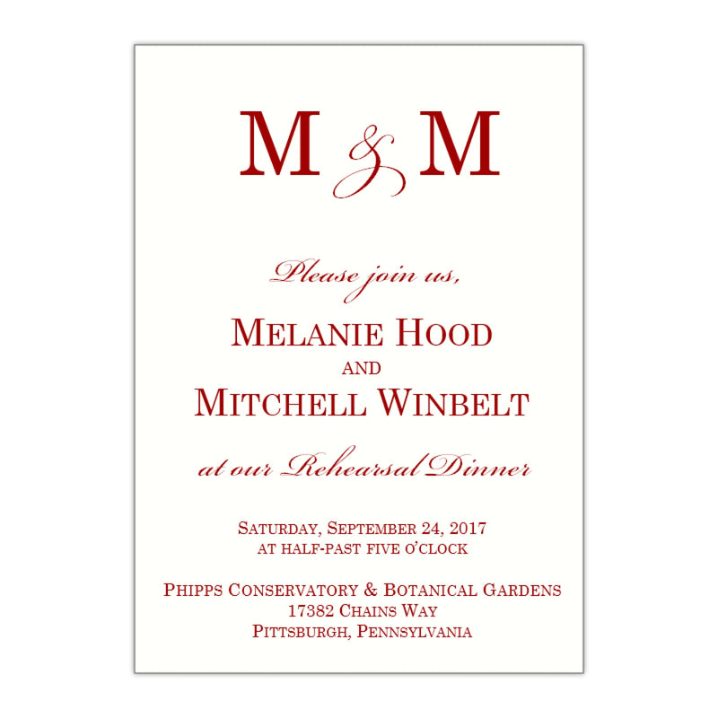 Modern Rehearsal Dinner Invitation, Melanie - All That Glitters Invitations