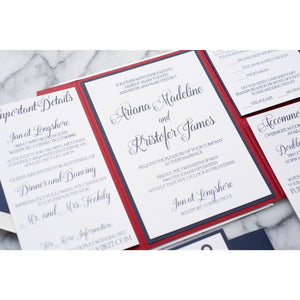 Nautical Anchor Wedding Invitation, Ariana - All That Glitters Invitations