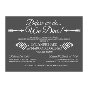 Rehearsal Dinner Invitation, Evelyn 2 - All That Glitters Invitations