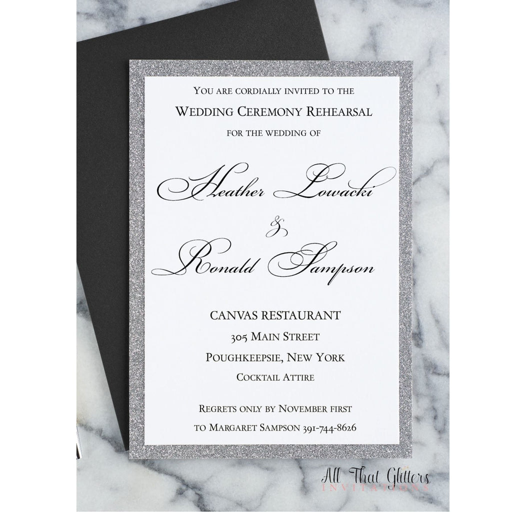 Rehearsal Dinner Invitation, Heather 2 - All That Glitters Invitations