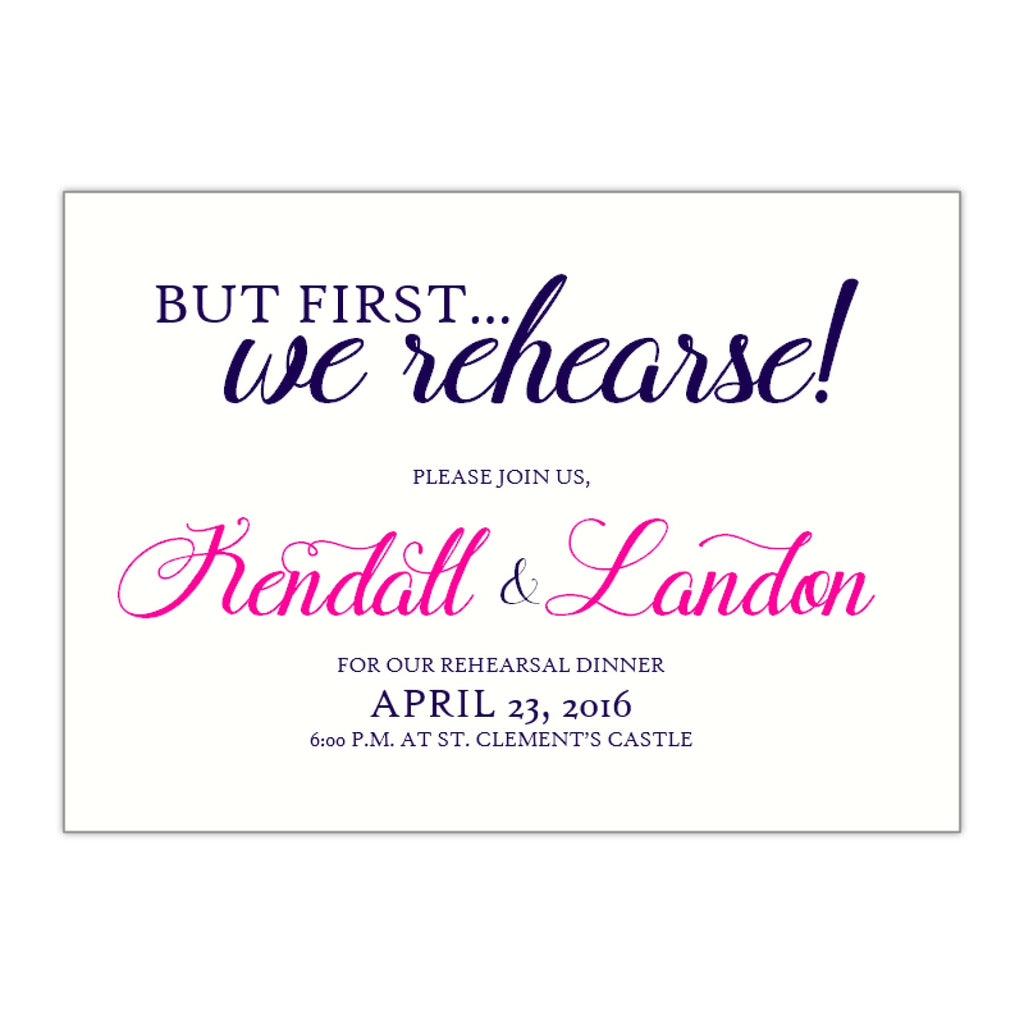 Rehearsal Dinner Invitation, Kendall - All That Glitters Invitations