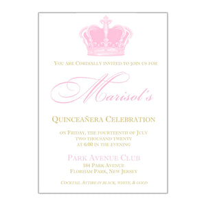 Royal Quinceanera Invitation - All That Glitters Invitations
