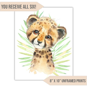 "Safari Animal Nursery Art Print, 8"" x 10"" - All That Glitters Invitations"