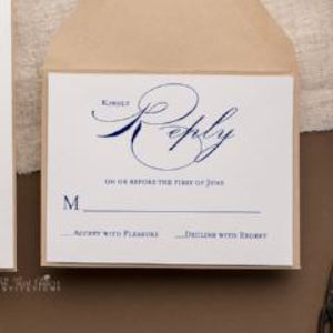 Script Initial Wedding Invitation, Saundra - All That Glitters Invitations