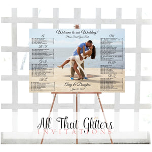Seating Chart with Photo DIGITAL FILE - All That Glitters Invitations