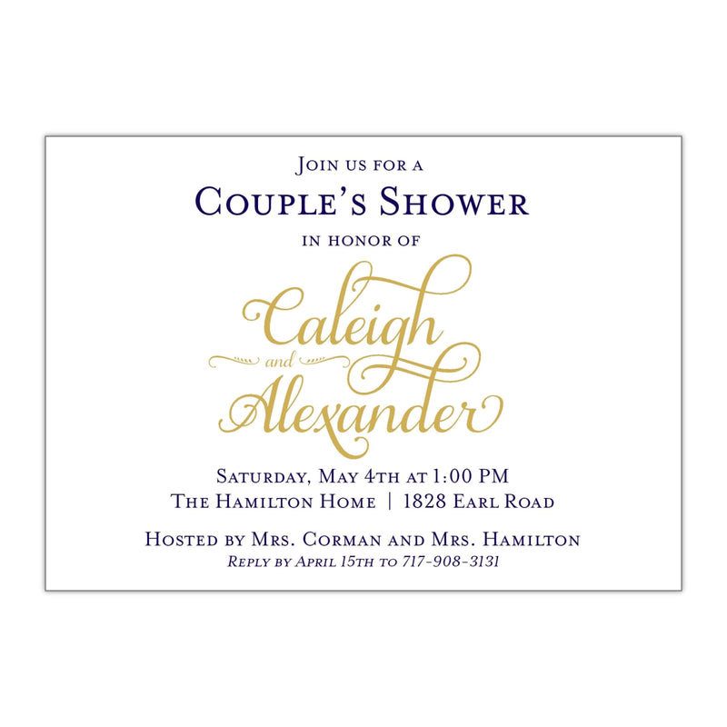 Sophisticated Bridal Shower Invitation - All That Glitters Invitations
