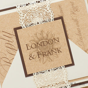 Sunflower Wedding Invitation, London - All That Glitters Invitations