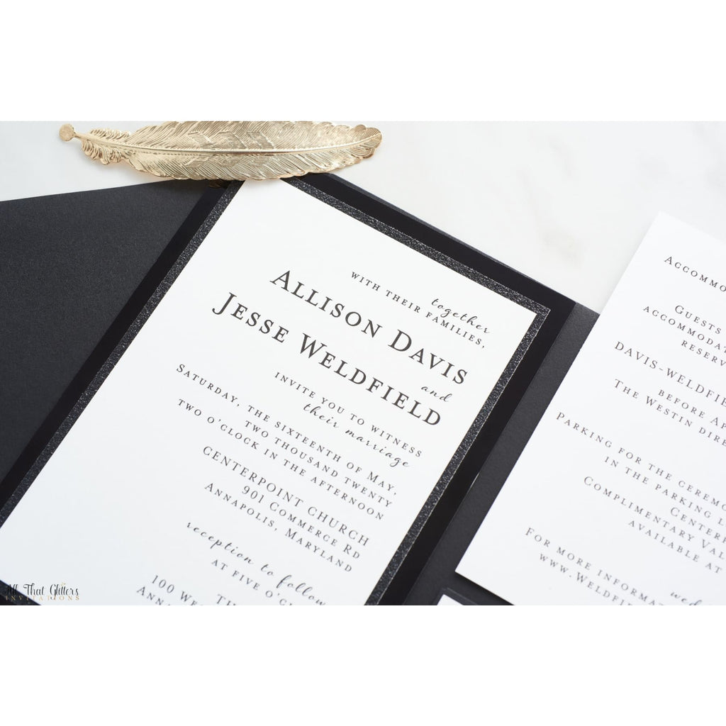 Super Formal Wedding Invitation, Allison - All That Glitters Invitations