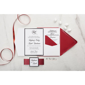 Traditional Wedding Invitation, Stefanie - All That Glitters Invitations