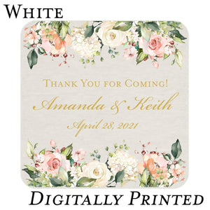 Wedding Reception Coasters, Digital Printing - All That Glitters Invitations