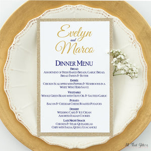 Wedding Reception Dinner Menu, Evelyn 1 - All That Glitters Invitations