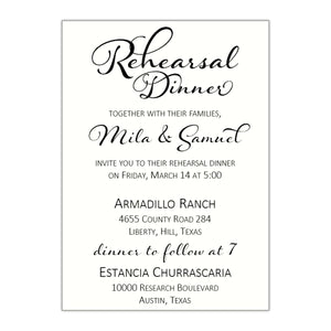 Whimsical Rehearsal Dinner Invitation, Mila - All That Glitters Invitations