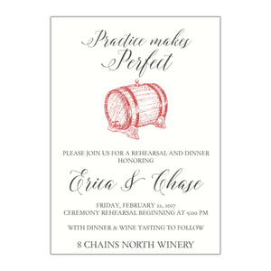 Wine Themed Rehearsal Dinner Invitation - All That Glitters Invitations