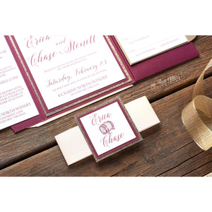 Wine Themed Wedding Invitation, Erica - All That Glitters Invitations