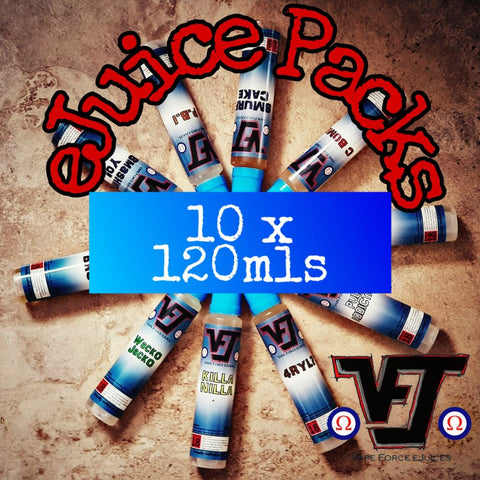 eJuice Pack - 10 x 120mls - Vape Force eJuices