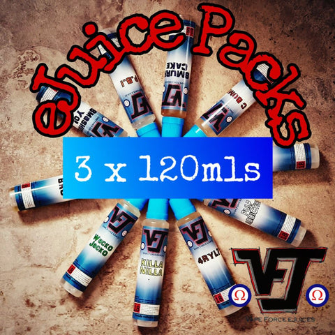 eJuice Pack - 3 x 120mls - Vape Force eJuices