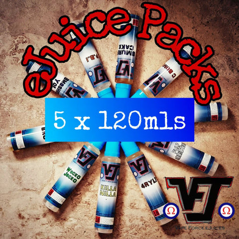eJuice Pack - 5 x 120mls - Vape Force eJuices