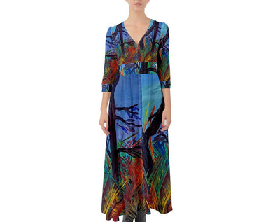 Button Up Boho Maxi Dresses (Aura)