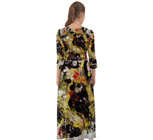 Button Up Boho Maxi Dresses (Expressive Abstract)