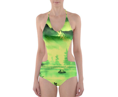 Cut-Out One Piece Swimsuit (Aura)