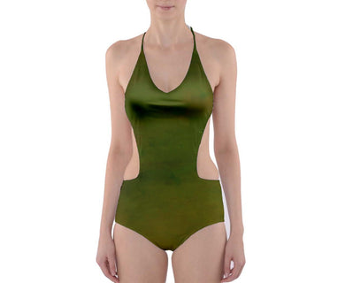 Cut-Out One Piece Swimsuit (Bohemian Solids)