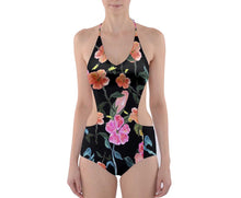 Cut-Out One Piece Swimsuit (Floral)