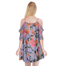 Cutout Spaghetti Strap Chiffon Dress (Floral)