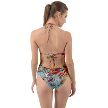 Halter Cut-Out One Piece Swimsuit (Expressive)