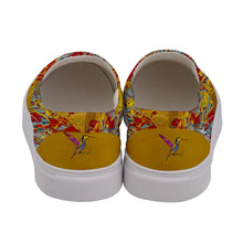 Women's Canvas Slip Ons (Expressive Abstract)