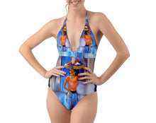 Halter Cut-Out One Piece Swimsuit (Femininity)