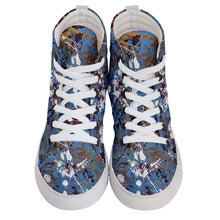 Men's Hi-Top Skate Sneakers (Expressive Abstract)