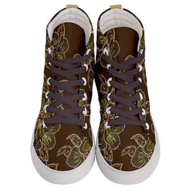 Men's Hi-Top Skate Sneakers (Floral)