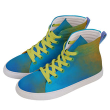Men's Hi-Top Skate Sneakers (Bohemian Light Watercolor Spirits)