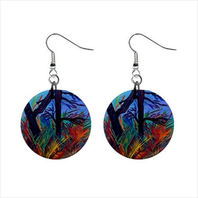 Bohemian Button Earrings (Aura)