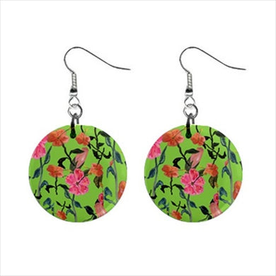 Bohemian Button Earrings (Floral)