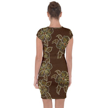Cap Sleeve Draw String Dresses (Floral)