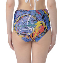 Classic High Waist- Bikini Bottoms (Expressive Abstract)