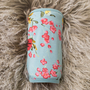 Cherry Blossom Teal Swaddle