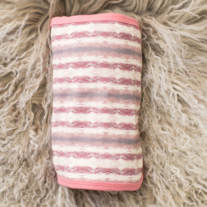 Tye Dye Stripe Rose Swaddle