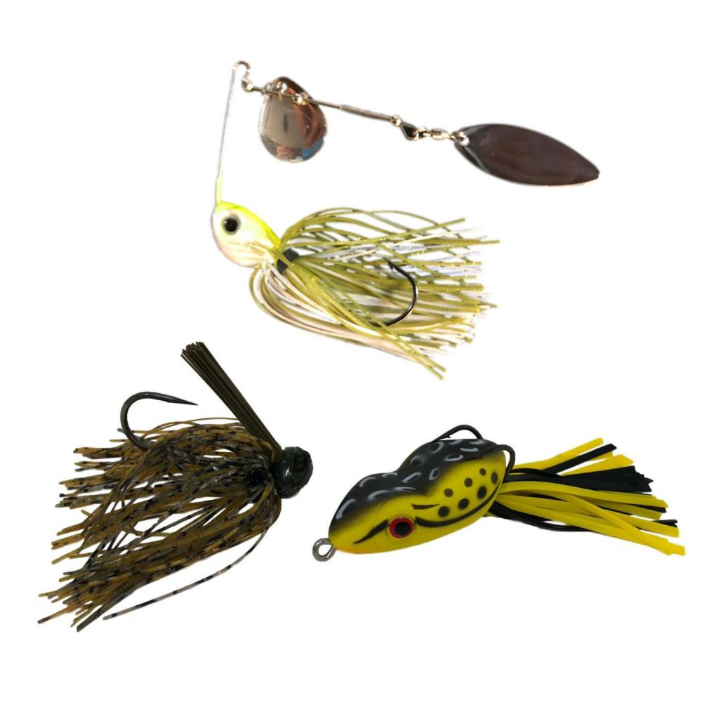 Tailored Tackle Bass Fishing Spinnerbait Jig Topwater Frog