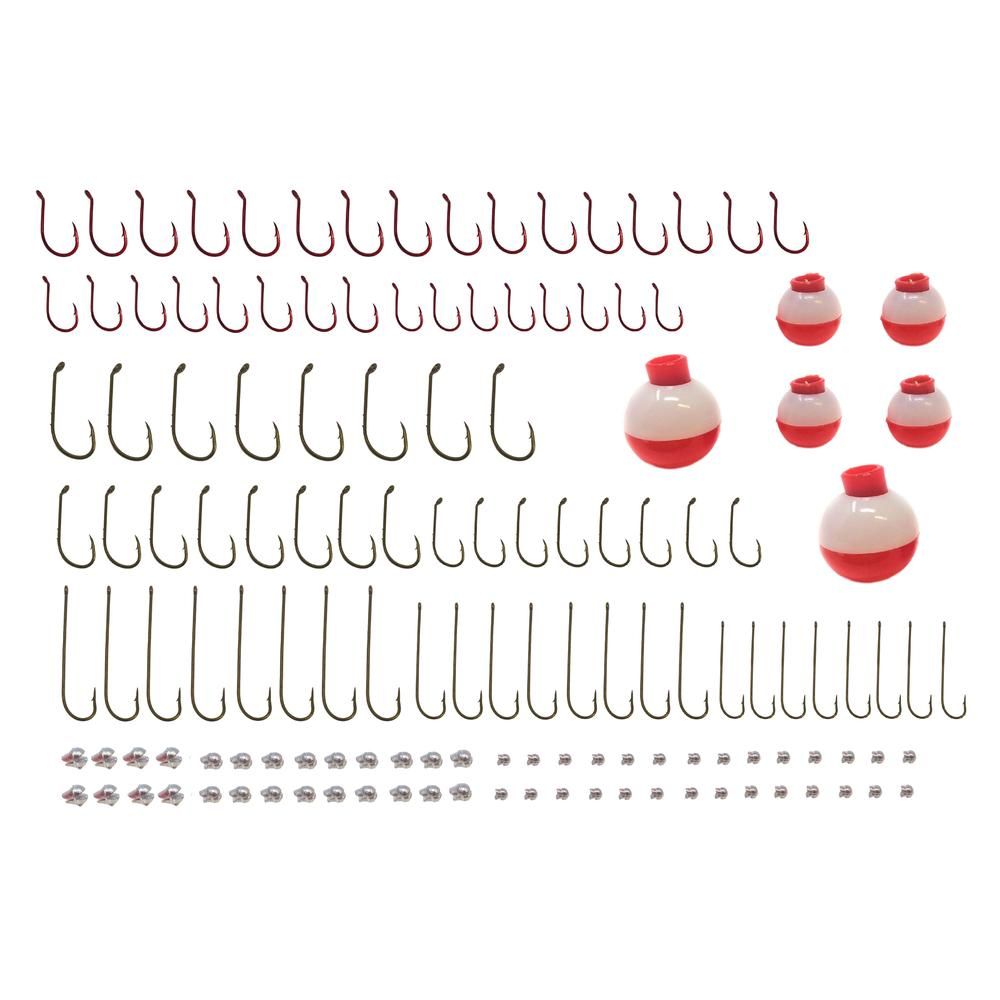 Fishing Hooks Sinkers Bobbers Assortment Tailored Tackle