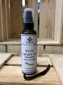 Antioxidant Sweet Vanilla Bath and Body Oil