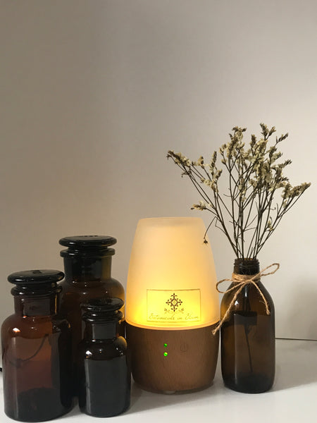 Glass and Bamboo Wood Ultrasonic Cool Mist Diffuser