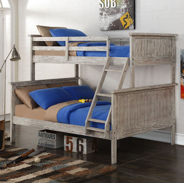 Driftwood Twin Over Full Panel Bunk Bed