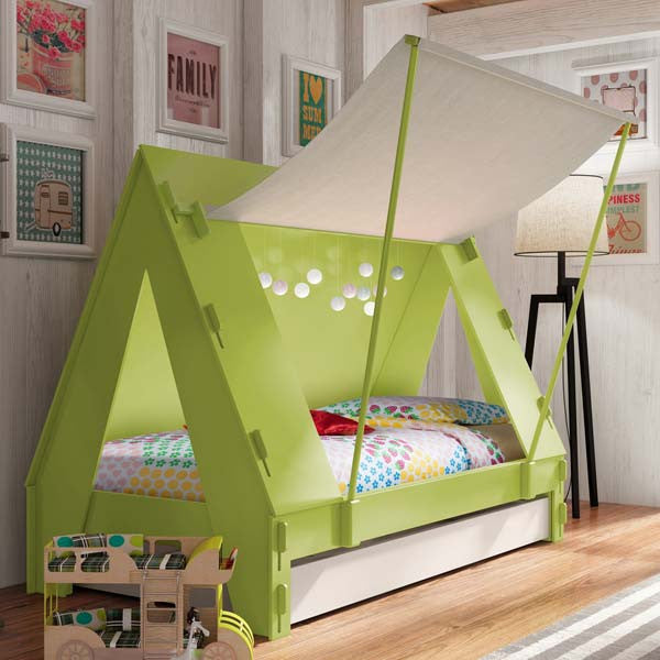 Adventure Kids Tent Bed With Trundle Bed - Loft Beds 4 Kids
