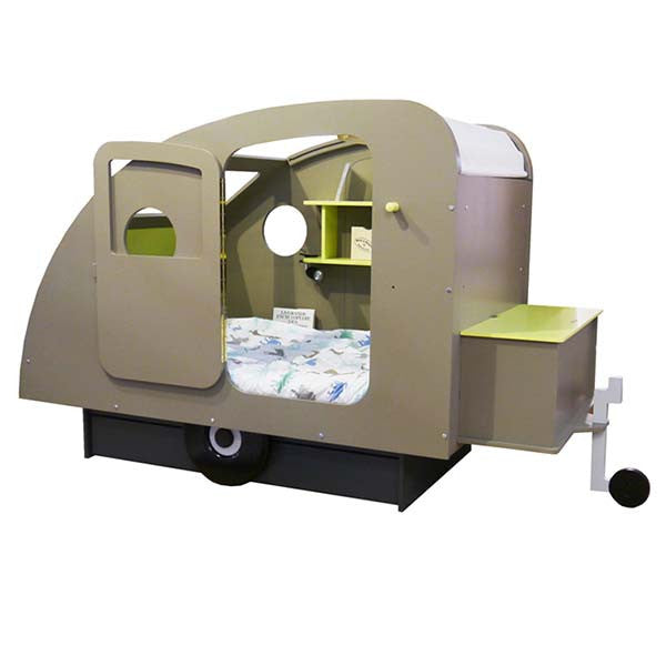 Caravan Kids Twin Bed With Drawer and Chest on the Helm