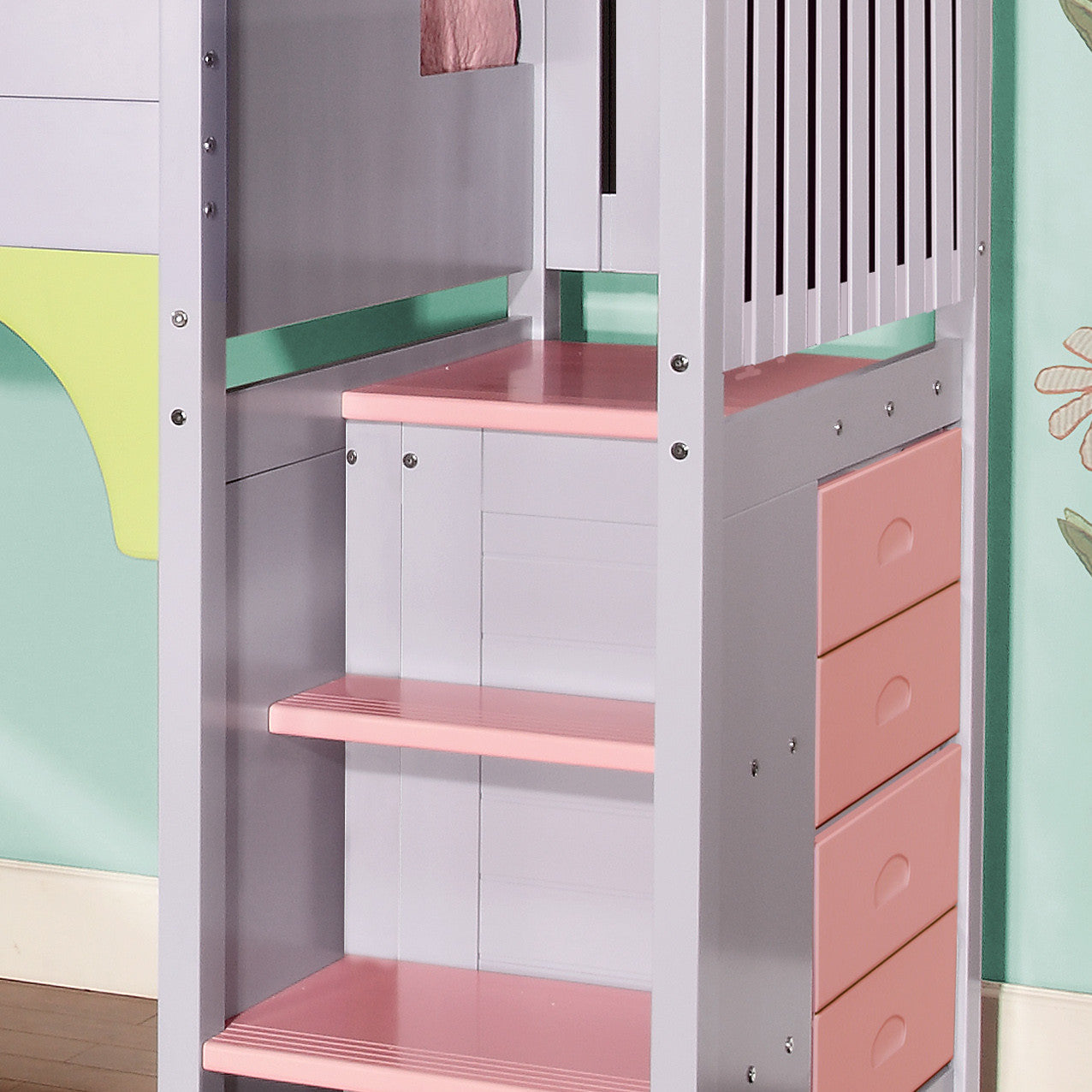 dollhouse playhouse loft bed with stairs - loft beds 4 kids