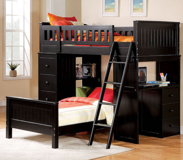 Willoughby Black Twin Loft Bed