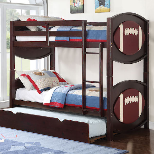 All Star Football-Themed Twin over Twin Bunk Bed
